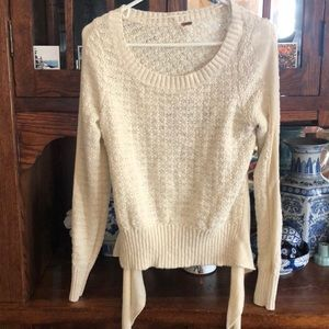Free people tie back sweater